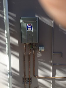 New Rinnai hot water installation Castlecrage